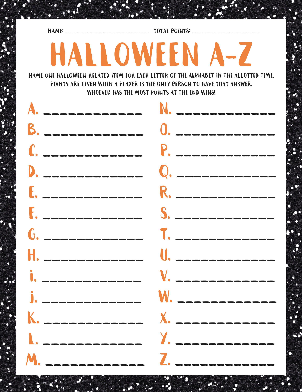 Halloween A Z