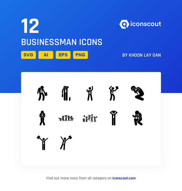 Download Businessman Icon Pack Available In Svg Png Eps Ai Icon Fonts Icon Pack Glyph Icon Icon