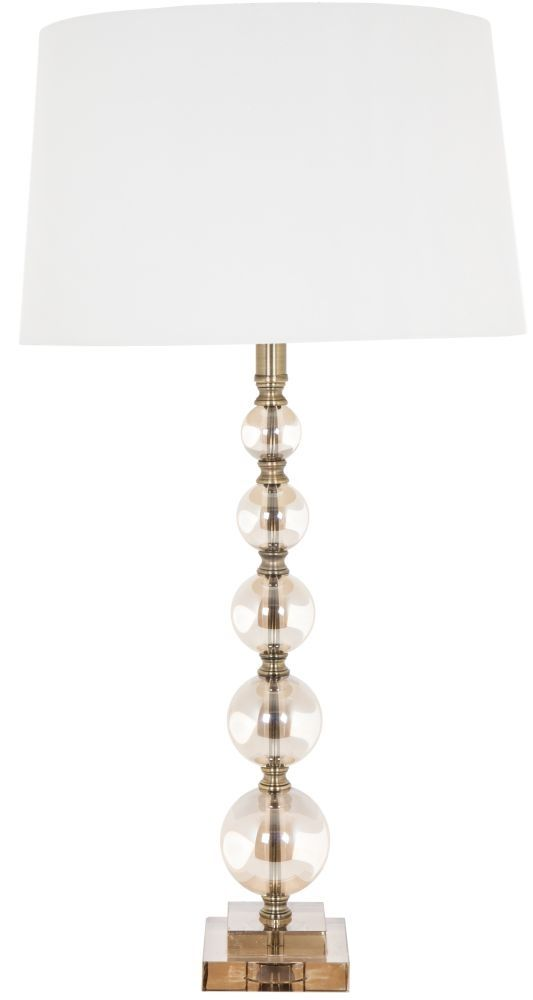 Amazing RV Astley Cara Tall Cognac Glass Ball Table Lamp Base Only