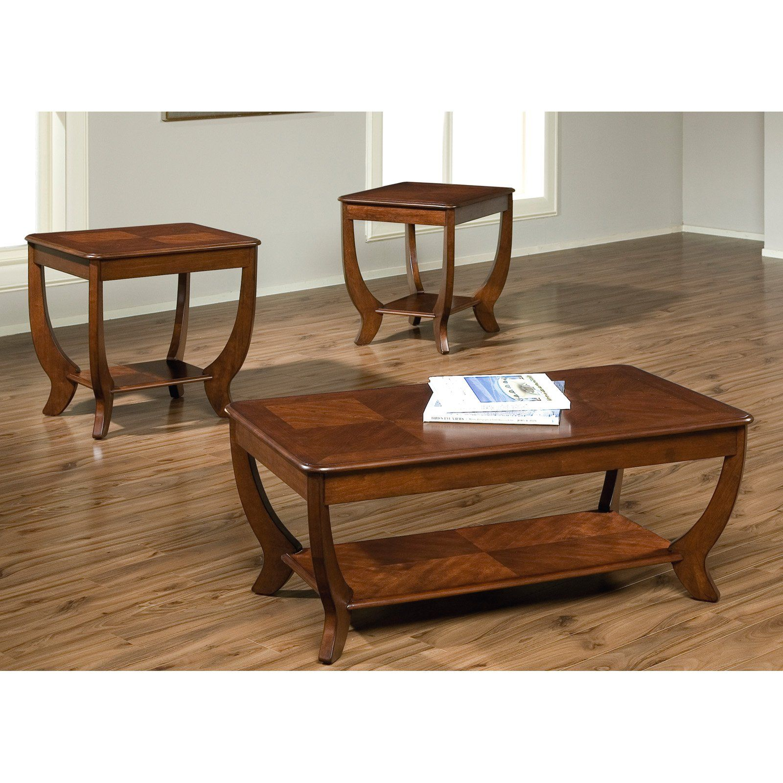 Cherryville 3 Piece Rectangular Coffee Table Set Autumn Blush 236 Ot3000 Home Furniture