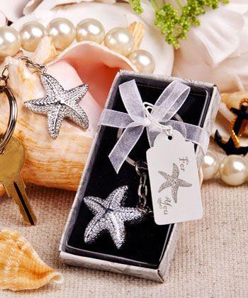 Brilliant Starfish Key Chain Wedding Gift Favors Beach Theme Favors Wedding Favors Cheap