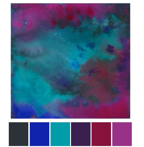 Color Story Watercolor Palette Purple Color Schemes Teal