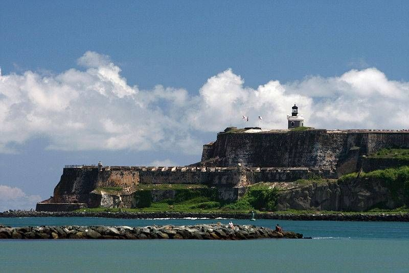 El Morro, San Juan, Puerto Rico - walked the entire path around the fort in 90+ temperatures for over an hour... to find out the path was a dead end (ending in a guy selling water to the tourists that took the wrong path)...