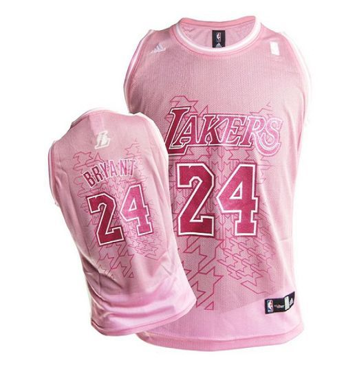 f6ebd7d5eb7 Lakers  24 Kobe Bryant Pink Women Fashion Embroidered NBA Jersey! Only   17.50USD