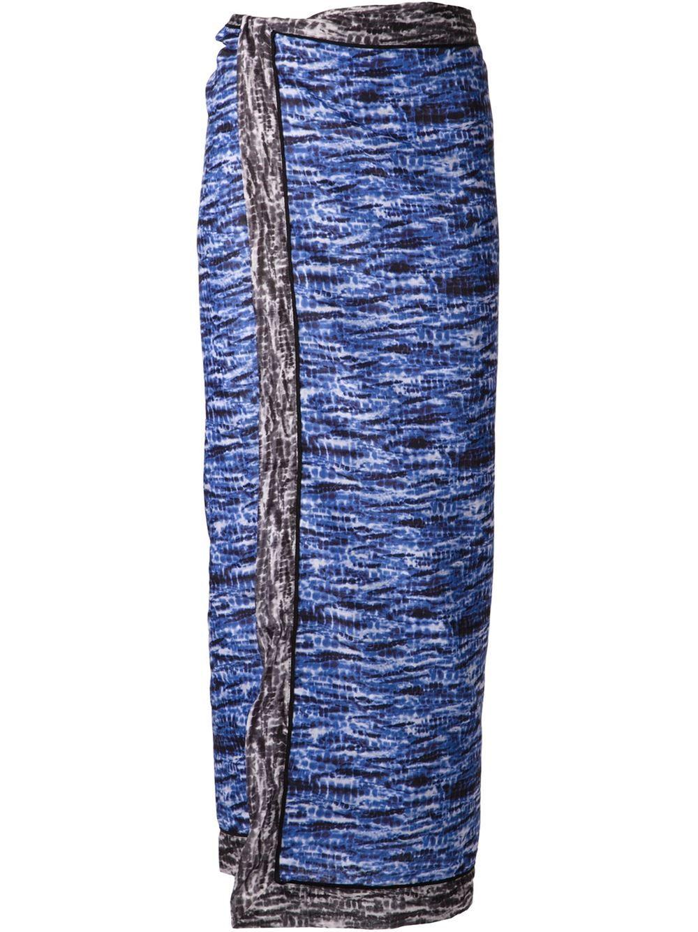Proenza Schouler Blotchy Print Maxi Skirt - Kirna Zabête - Farfetch.com