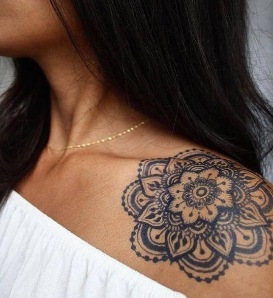 Photo of colorful mandala tattoo #Mandalatattoo
