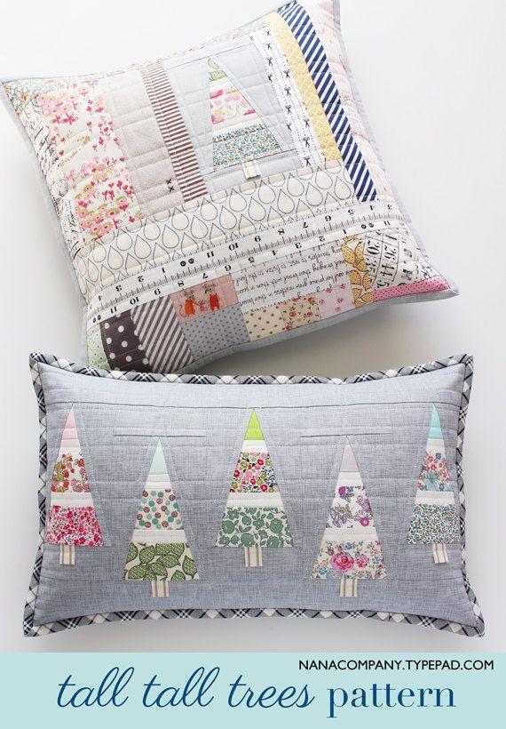Tall Tall Trees PDF pattern | almohadones | Pinterest | Navidad ...