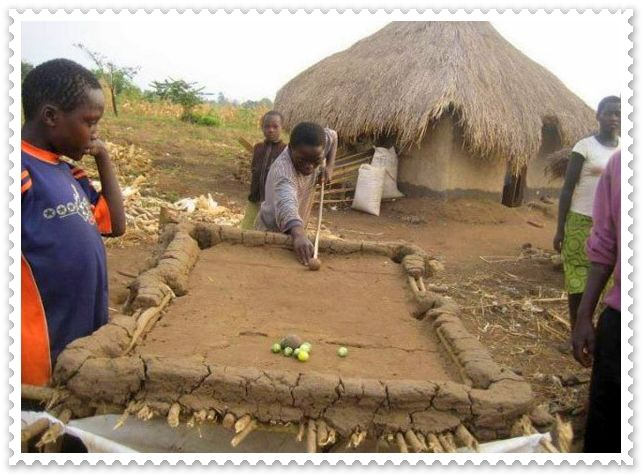 Funny pictures of africa makeshift pool table funny pictures of africa