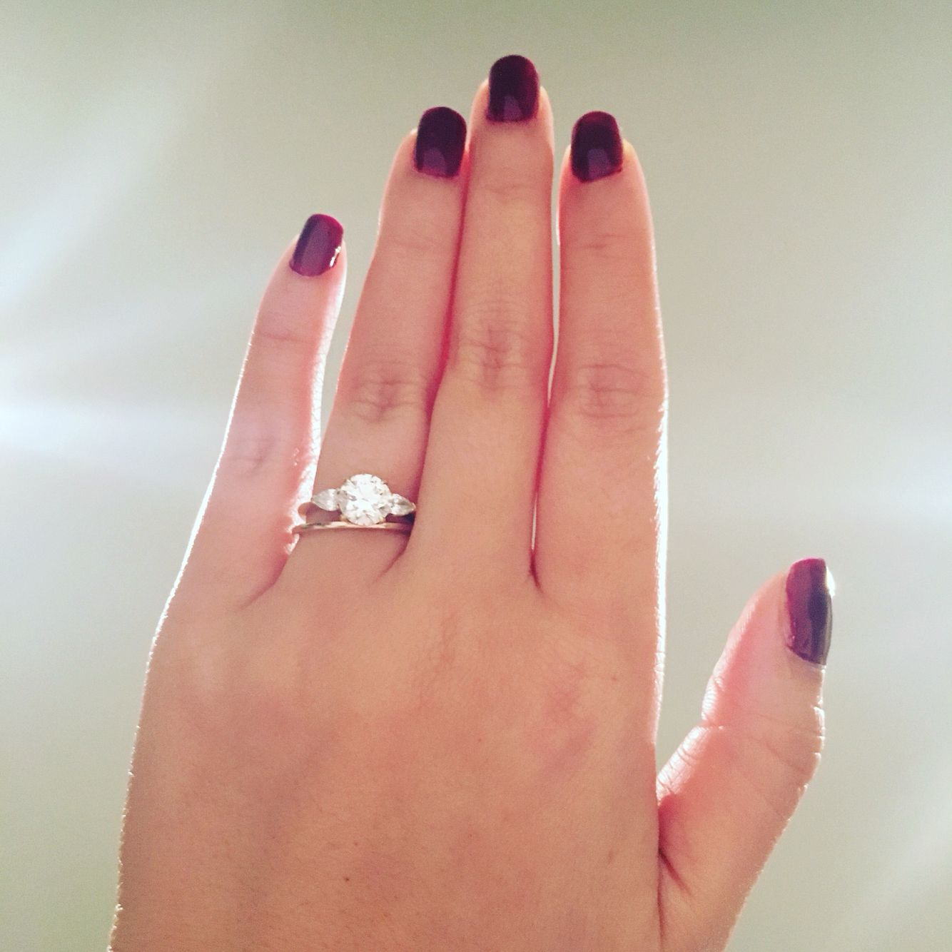 Still love my ring even if my sister\'s is bigger. 1.7ct rb center ...