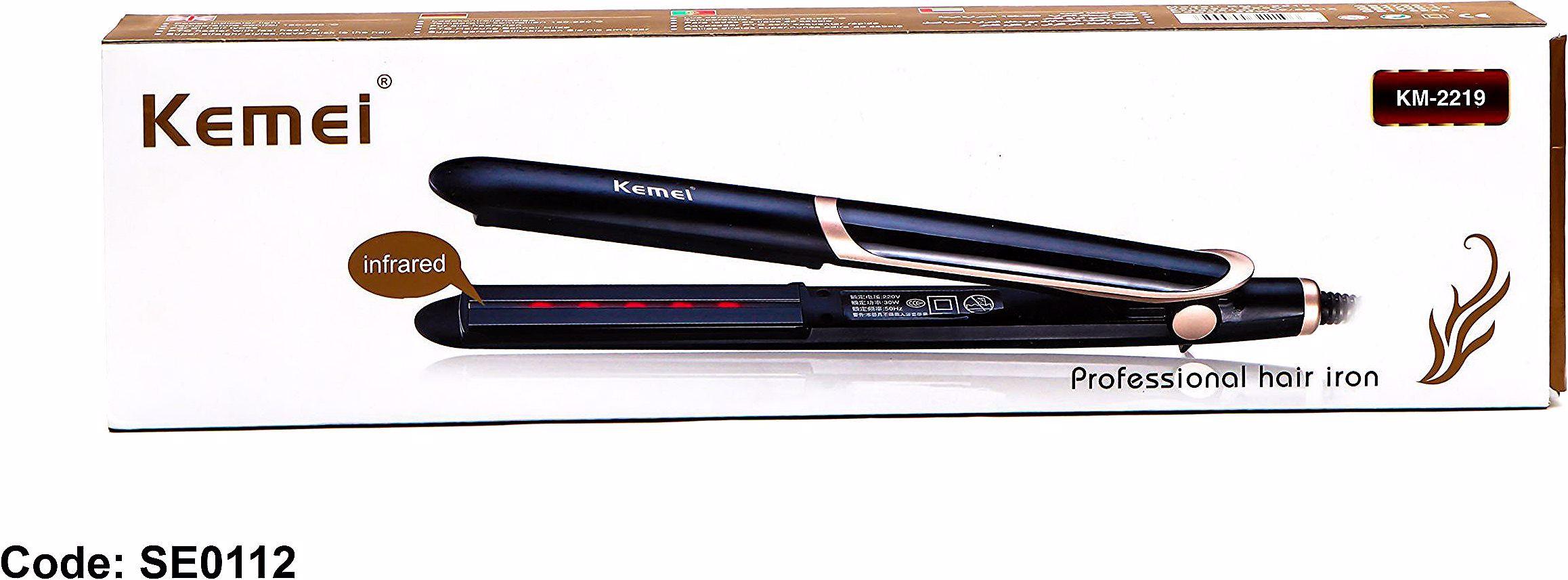 Kemei Km2219 مكواة الشعر بسعر 200ج بدل من 270ج مكواة تصفيف الشعر سيراميك تتميز بالتحكم في درجات ا Professional Hair Iron Professional Hairstyles Lip Liner