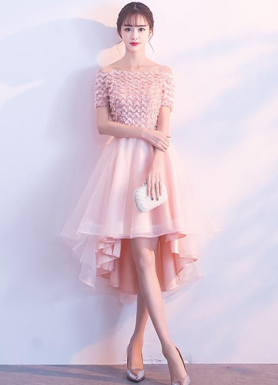 a095ff71f6 New Arrival High-Low Applique Homecoming Dresses