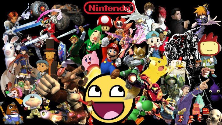 Nintendo Characters Wallpapers Desktop With High Resolution Desktop Wallpaper On Games Category Similar With 64 Characters Classic Games Iphone Logo Retro