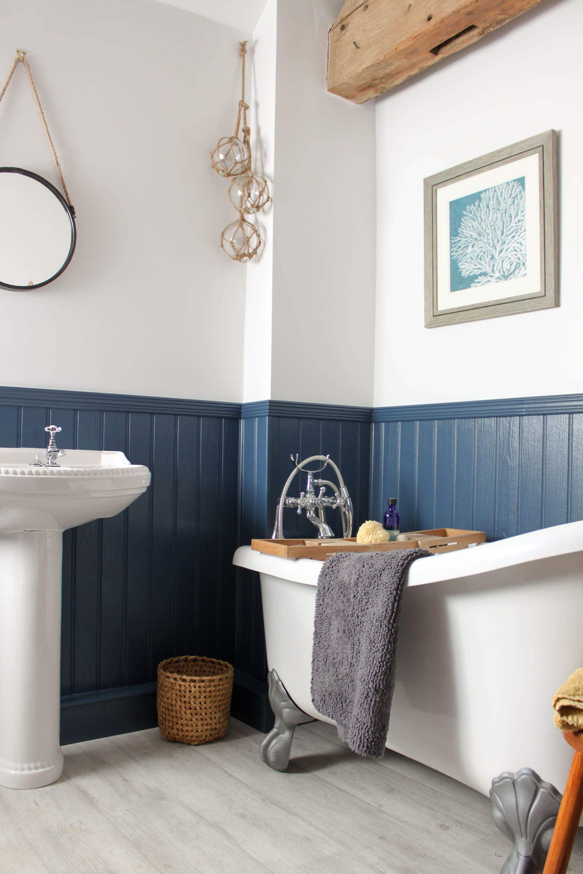 A Coming Together Of Styles Victorian New England And Country Cottage Rustic Cottage Bathroom Farmhouse Bathroom Blue Bathroom