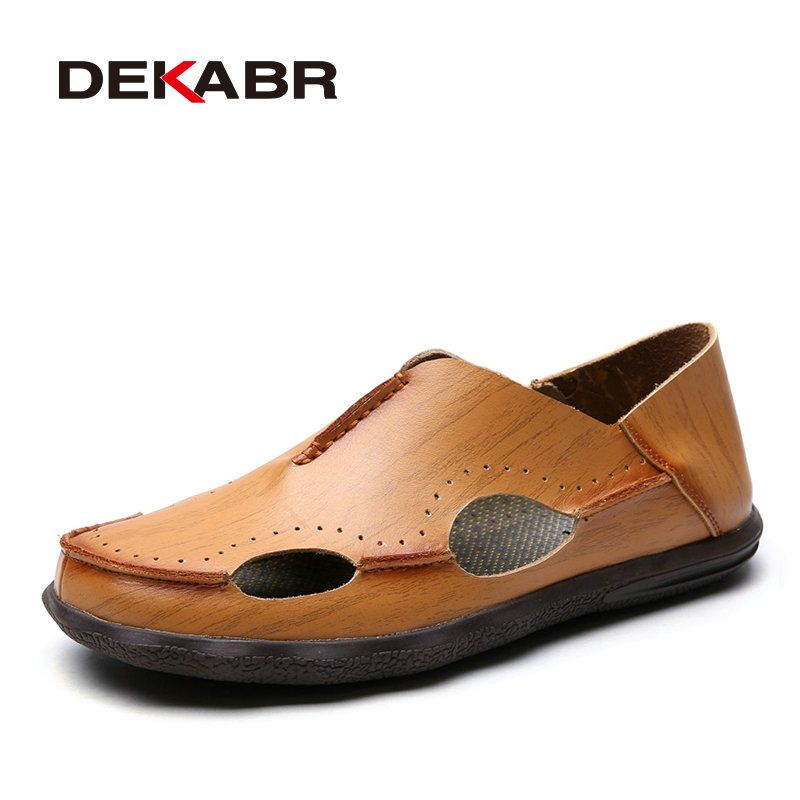 48e1bae4b  Free Shipping  Buy Best DEKABR Brand Mens Sandals New Summer Footwear