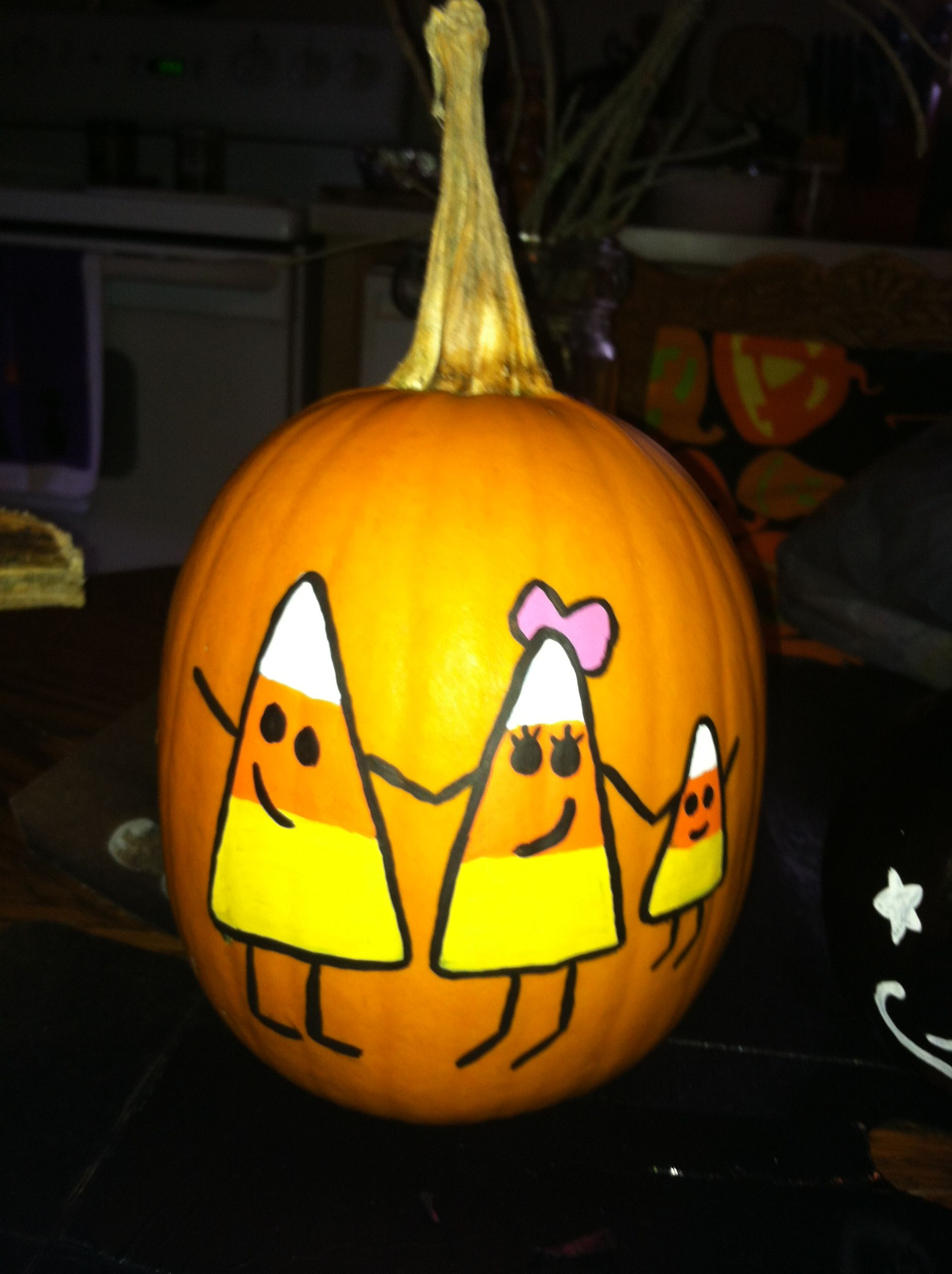 Painted Pumpkin. Might Do Something Like This This Year