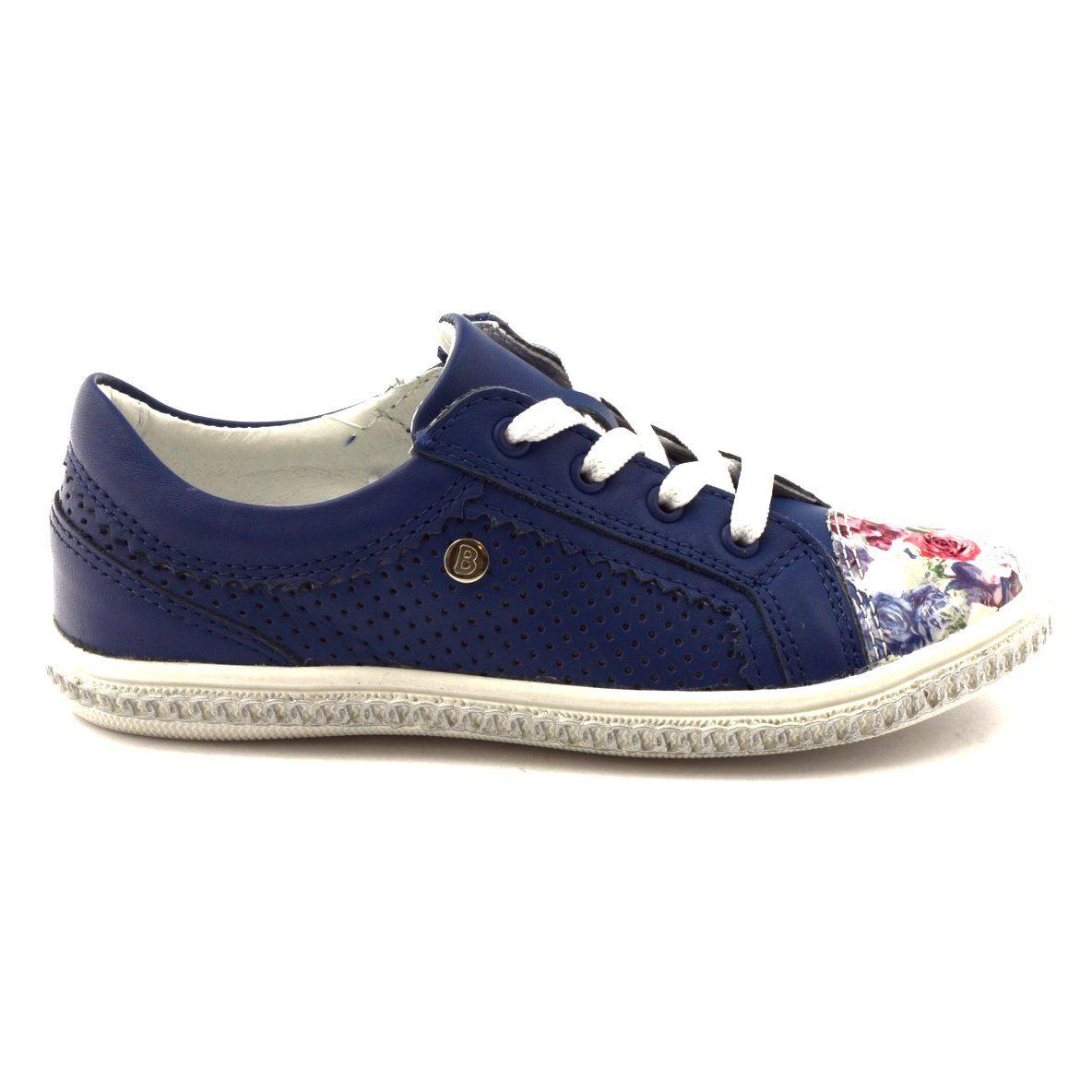 Granatowe Buty Dzieciece W Kwiatki Bartek 85524 Biale Niebieskie Wielokolorowe Childrens Shoes Kid Shoes Shoes
