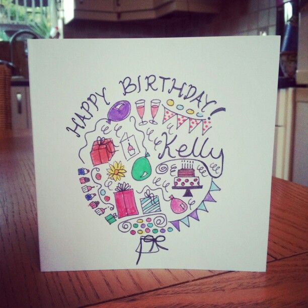 birthday card doodle ♥  birthday cards hobbies and