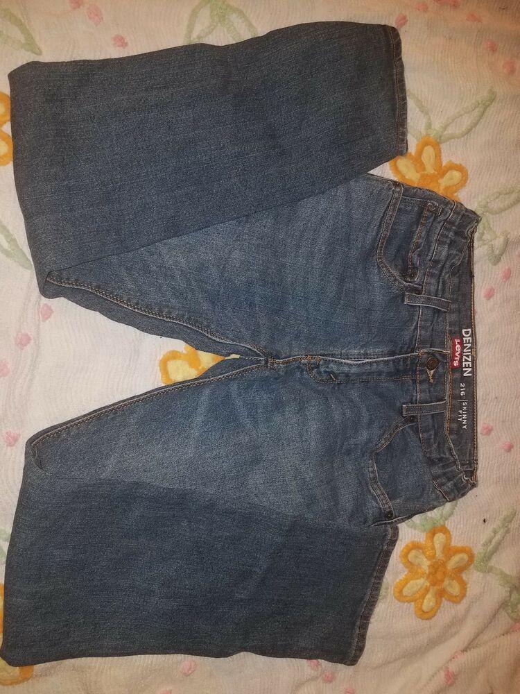 578a3345 Levi's Denizen 216 Skinny Fit Boys Blue Jeans - Size 16 Reg ...