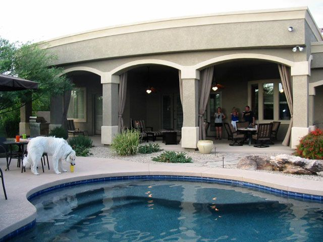 outdoor patio arizona misting drapes Patio Curtains In Phoenix