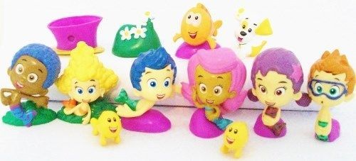 BUBBLE GUPPIES Figure Set NICKELODEON PVC TOY Cake Topper GIL Molly NONNY  Deema