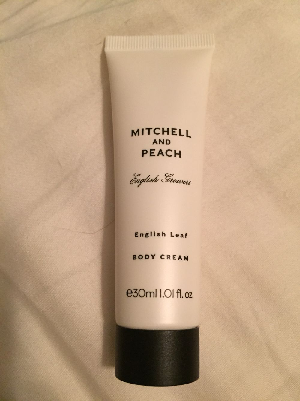 Mitchell and Peach Body Cream. New. (Open to smell the scent but not my scent.)