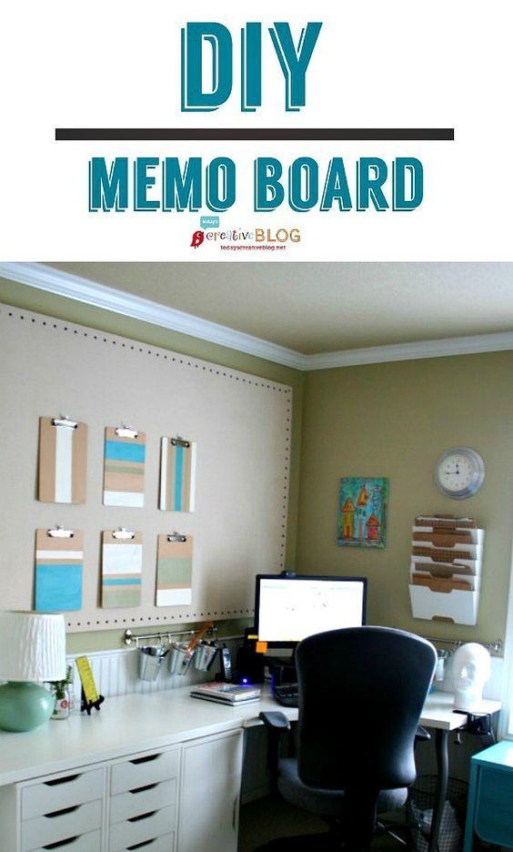 Diy Large Memo Board Organize Diy Diy Home Decor Room
