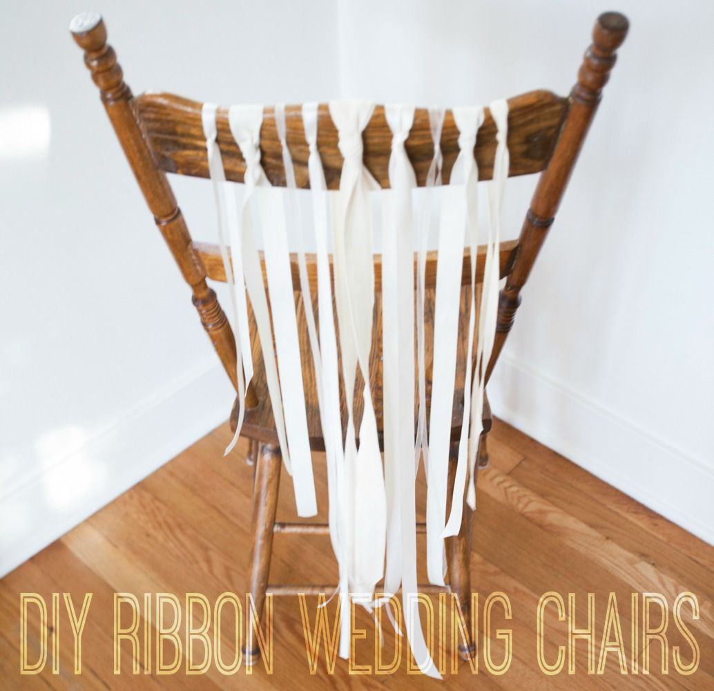 How to Make Perfect Ribbon Wedding Chairs