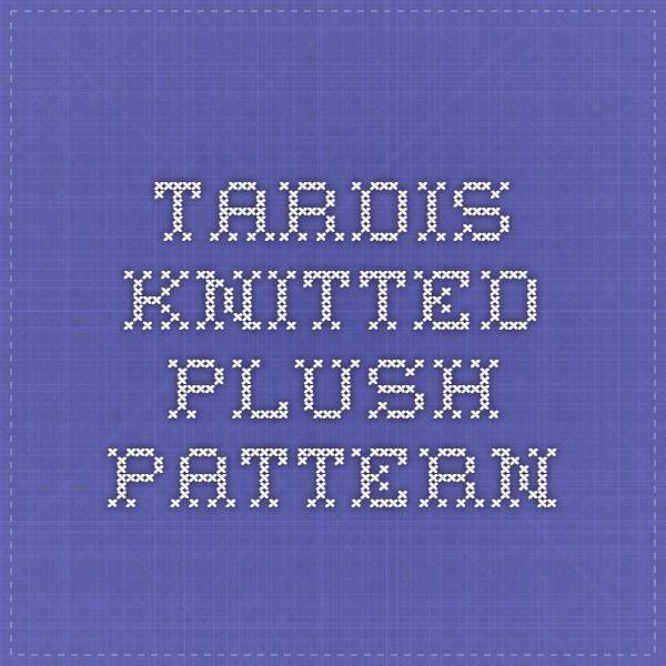 Tardis Knitted Plush Pattern