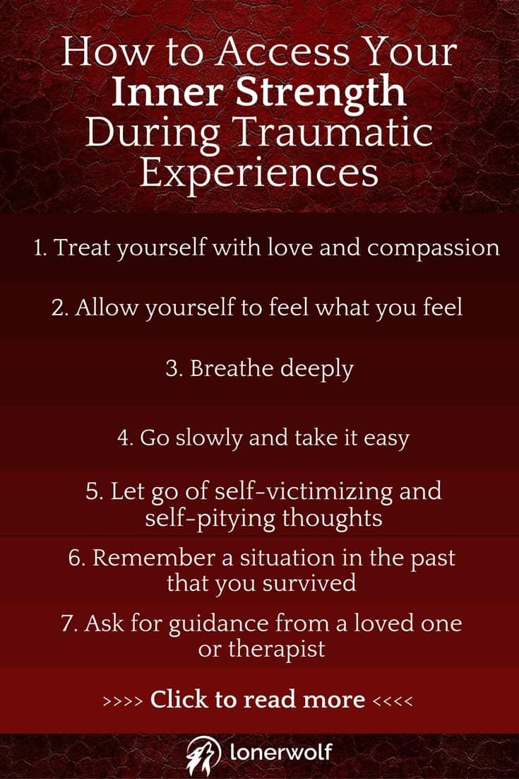 Are you struggling to pick up the broken pieces of your life as a result of trauma? Here's how to access your inner strength. <3