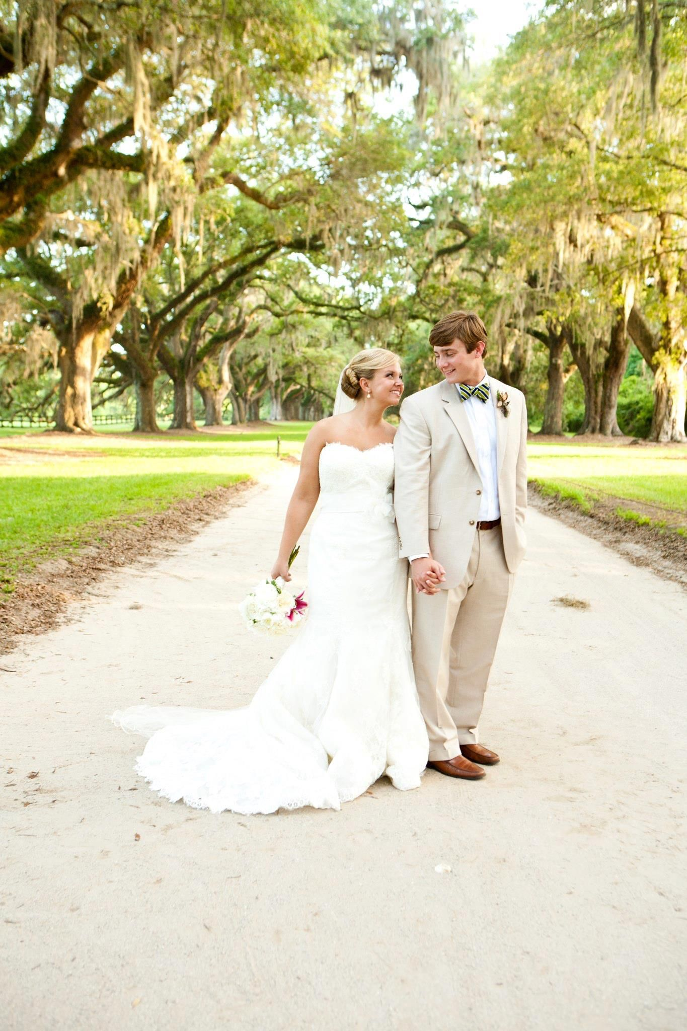 A Charleston wedding....Nicole wearing Martina Liana