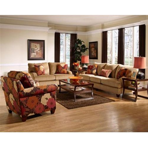 Woodhaven 7 piece kelsey collection aarons furniture - Woodhaven living room furniture collection ...