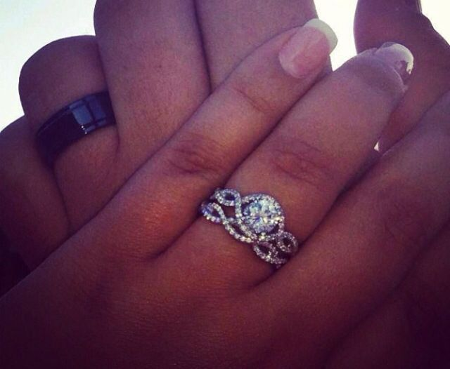 My dream wedding ring Halo ring for engagement and smaller infinity