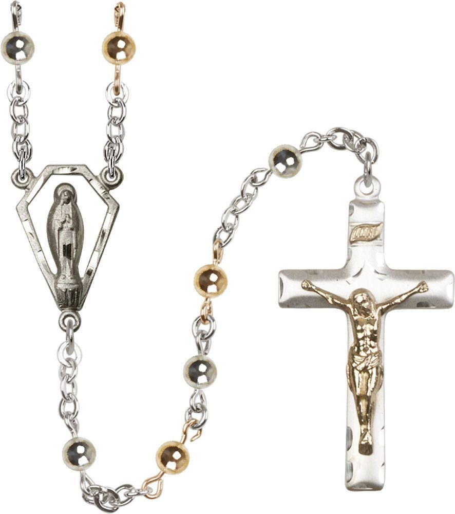 5mm Sterling Silver Round Bead Rosary by Bliss | Catholic Shopping .com