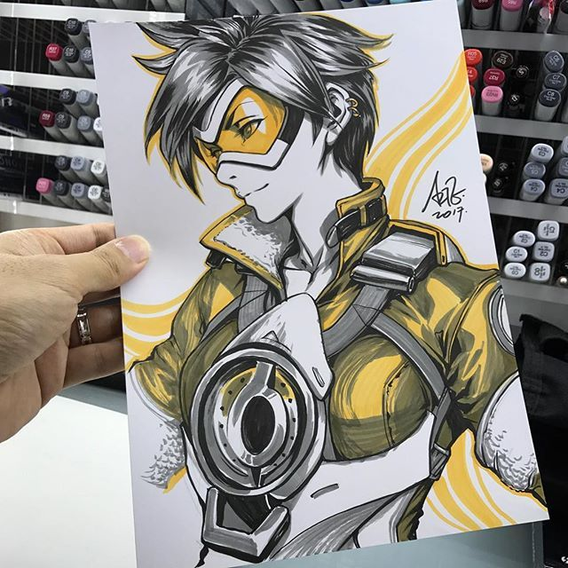 Free Comic Book Day Overwatch: Inktober Day 9. #tracer #overwatch