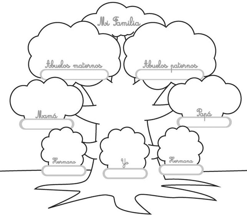 Dibujo Para Imprimir Y Colorear De Un árbol Genealógico Arboles