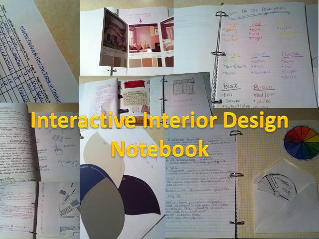 Interactive Notebooks Interior Design Classes Interior Design