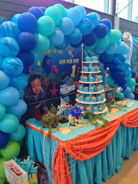 Finding Nemo theme Birthday Party Ideas | Photo 17 of 20 | Catch My Party  sc 1 st  Pinterest & Finding Nemo theme Birthday Party Ideas | Pinterest | Finding nemo ...