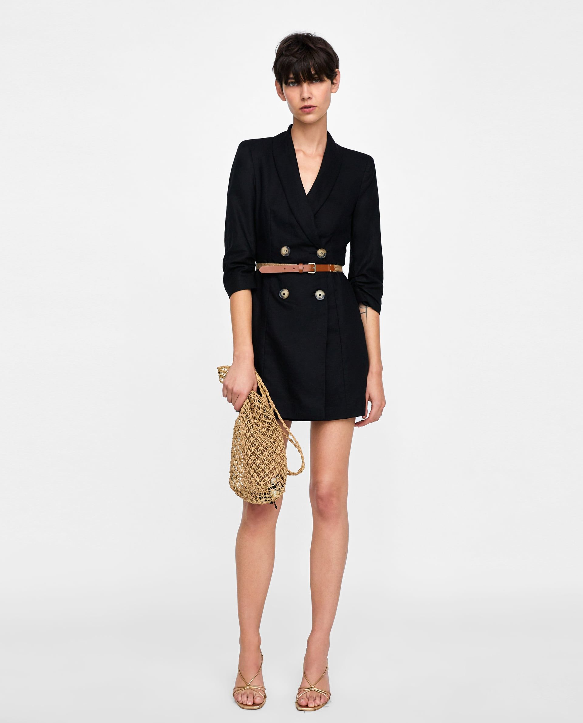 f579e1fc ZARA - AW/18 - BELTED BLAZER DRESS #fashion #iwouldwearthat #streetstyle  #instagram #shopping #onlineshopping Follow @coletteahsekal for more
