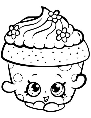 cupcake petal shopkin m 229 larbok kleurplaten kleurboek en