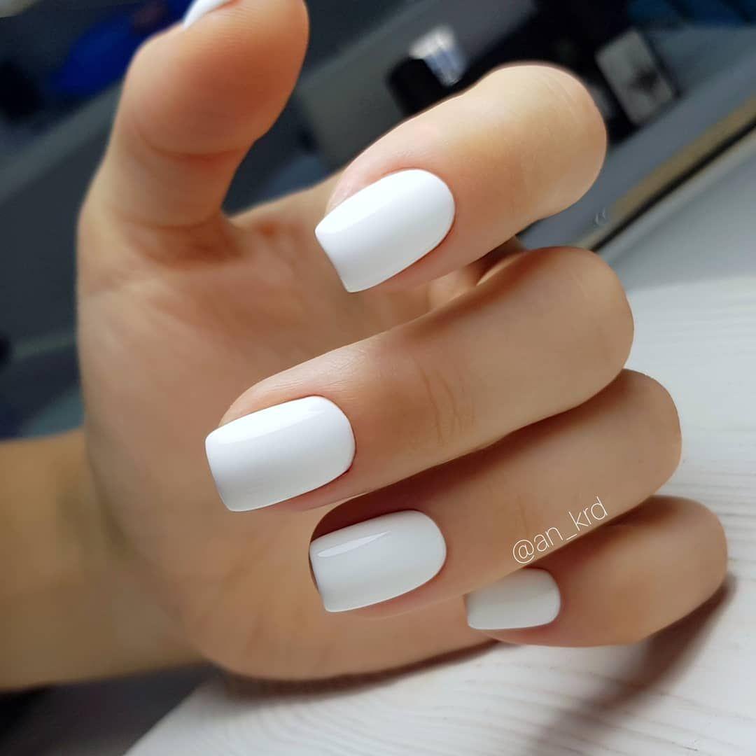 White On Short Nails Nails Nailart Manicure Nailpolish Short Acrylic Nails White Acrylic Nails Short Gel Nails