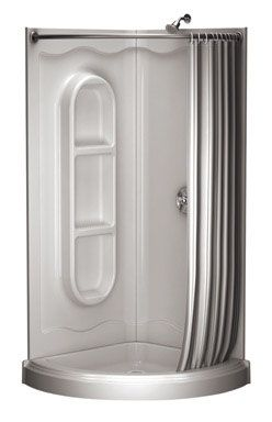 Shower Stalls : Asb-American Shower Round Shower With Curtain ...