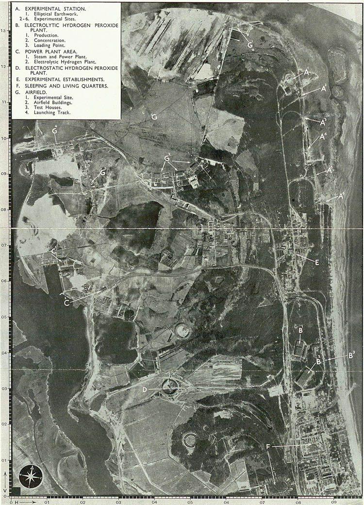 Aerial photograph of Peenemunde (AIR 34 184) Third Reich-Science - copy map japan world war 2