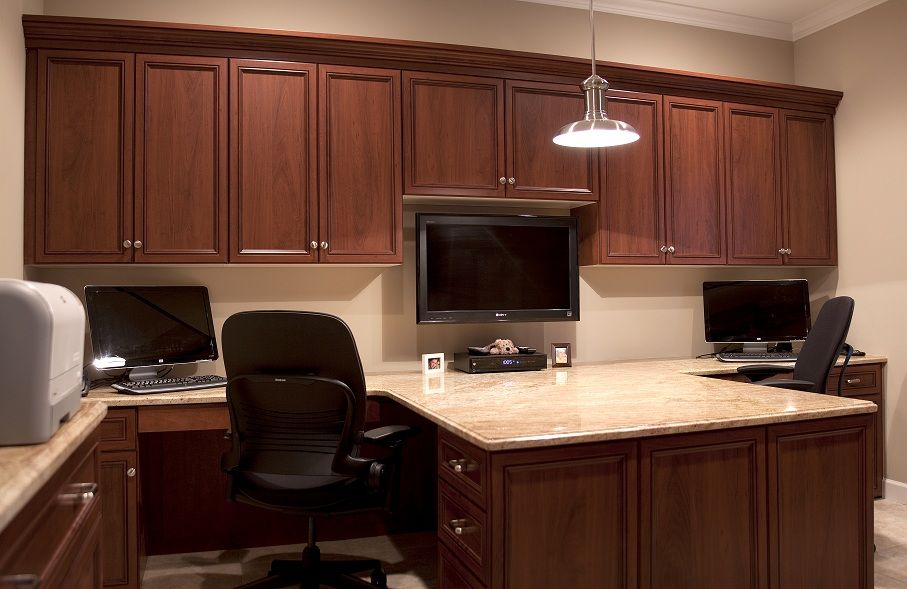 custom built two person office home office design for two people