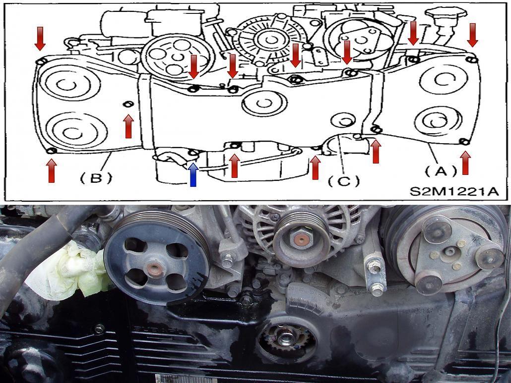 medium resolution of subaru boxer engine belt diagram