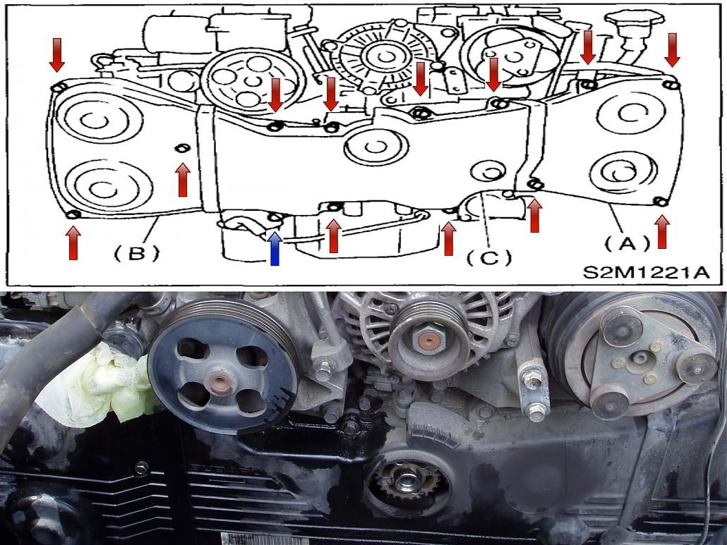 subaru boxer engine belt diagram [ 1030 x 773 Pixel ]