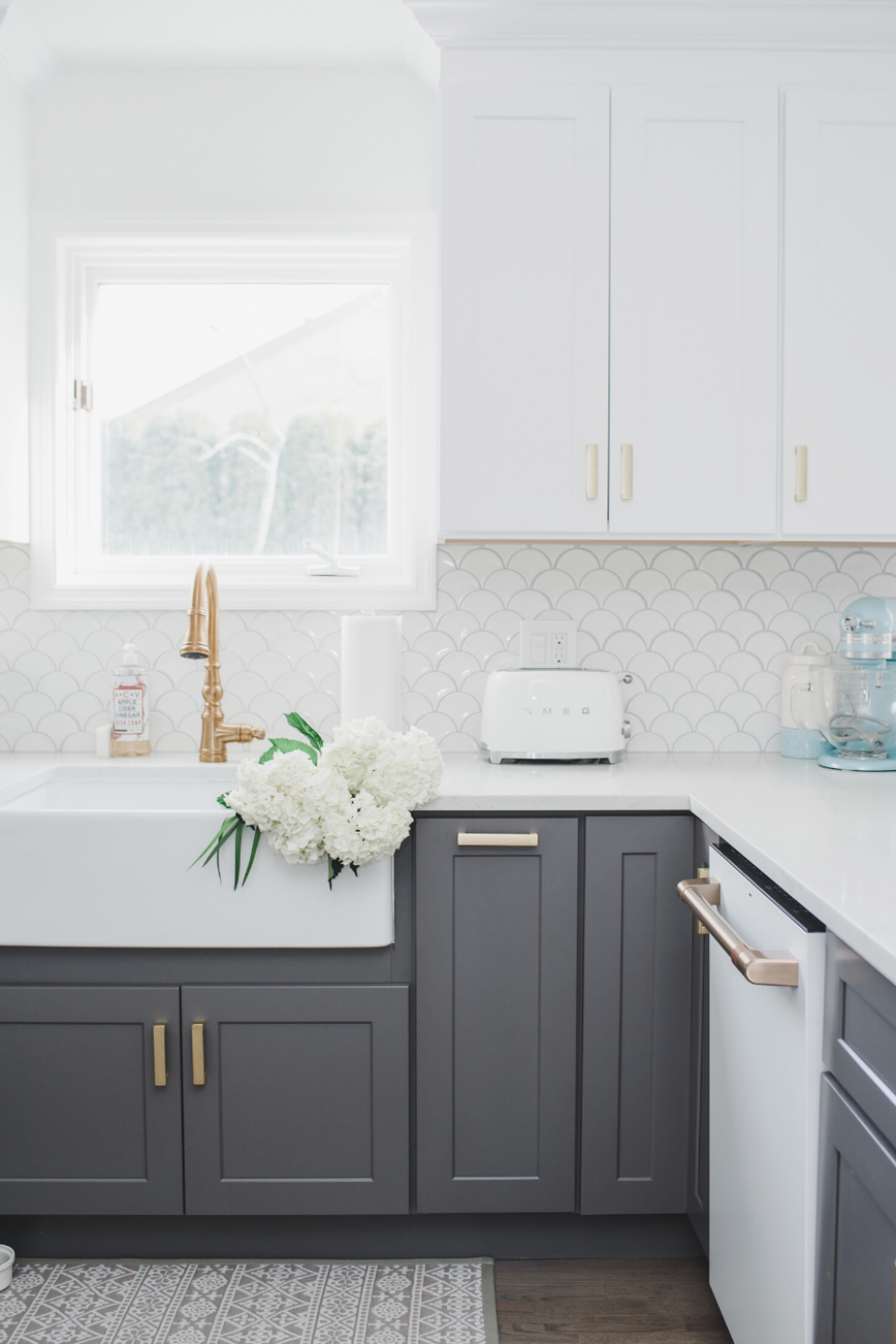 Check Out My White And Gold Cozy Coastal Kitchen And My Cafe Appliances I Love The Matte White In 2020 Home Decor Kitchen Grey Kitchen Designs Kitchen Cabinet Design