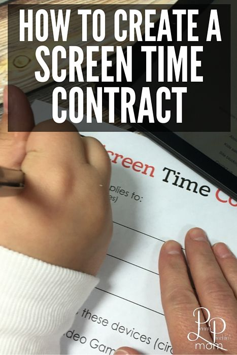 Create a Screen Time Contract With Your Kids We, Awesome and Need to