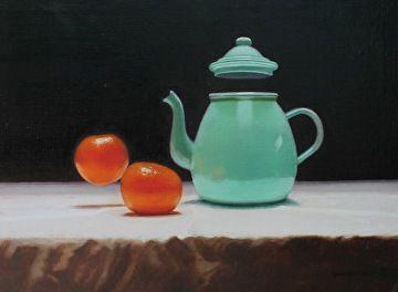 "Tangerine Tea by Robin Wessman Oil ~ 12"" x 16"""