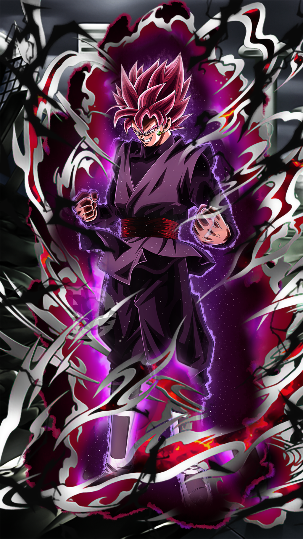 Goku Black Rose Wallpaper Hd 4k Em 2020 Personagens De Anime