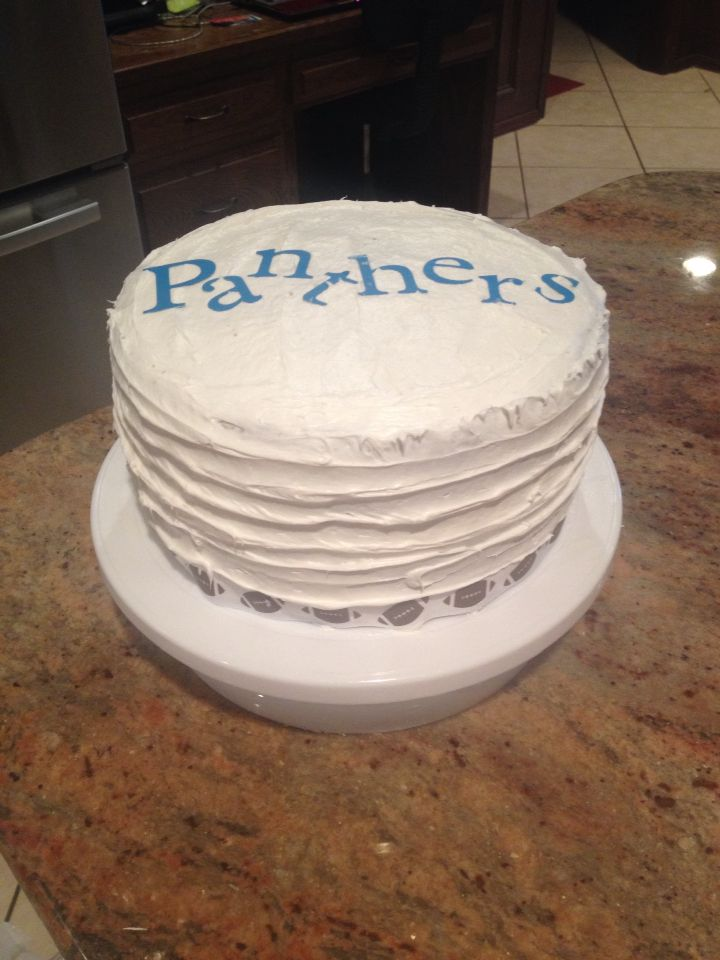 Panthers cake by Veronica Arreola 2016